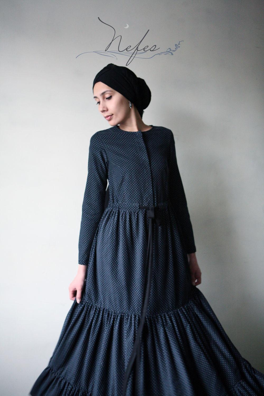 """Платья ручной работы. Ярмарка Мастеров - ручная работа. Купить Платье """"Хадийа"""". Handmade. Платье, Синее платье, платье для кормящих"""