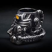Посуда handmade. Livemaster - original item Fallout t-51 mug (Power armor) / New Vegas Ranger. Handmade.