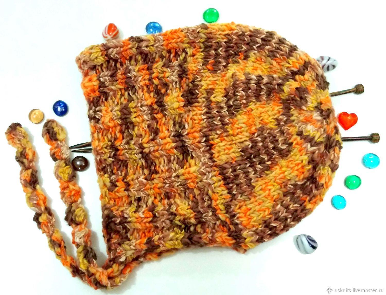 Knitted warm cap hood (cap,Capuchin), Caps, Korolev,  Фото №1
