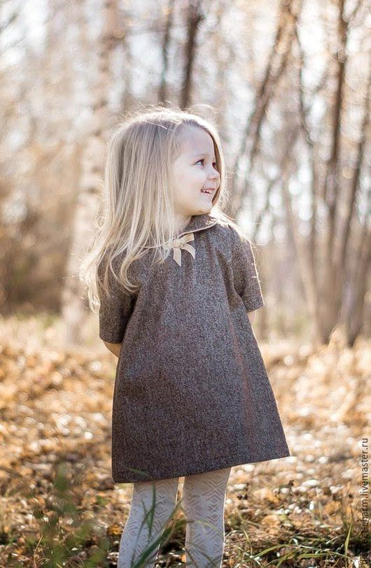 Одежда для девочек, ручной работы. Ярмарка Мастеров - ручная работа. Купить Детское осеннее зимнее платье, нарядное, коричневое, золотой люрекс.. Handmade.