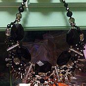 Украшения ручной работы. Ярмарка Мастеров - ручная работа Колье черный агат. Handmade.