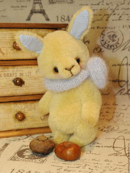 Мишки Тедди ручной работы. Ярмарка Мастеров - ручная работа. Купить Зайка Никки. Handmade. Желтый, зайка тедди, зайчонок