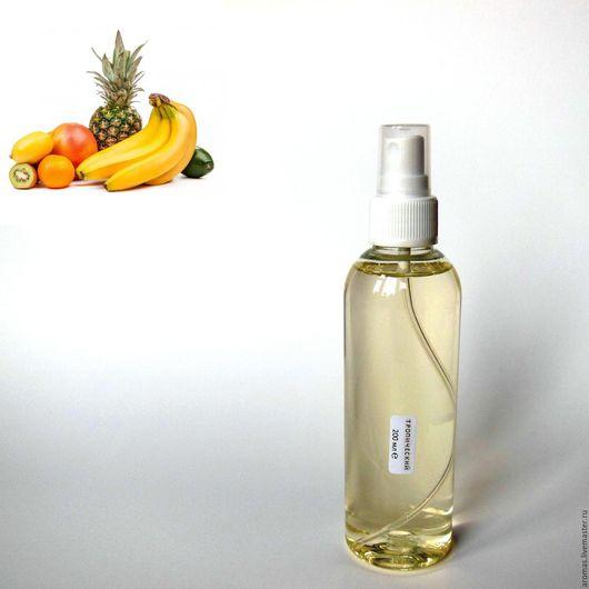Ярмарка Мастеров - ручная работа. Купить Флакон с жидкостью с Тропическим ароматом 200 мл на основе натуральных масел для ароматизатора-диффузора для дома. Handmade.