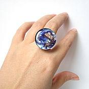 Украшения handmade. Livemaster - original item Large Ring Universe Space Galaxy Earth. Handmade.