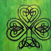 Обложки ручной работы. Ярмарка Мастеров - ручная работа Кельтский клевер, обложка для паспорта, замша. Handmade.