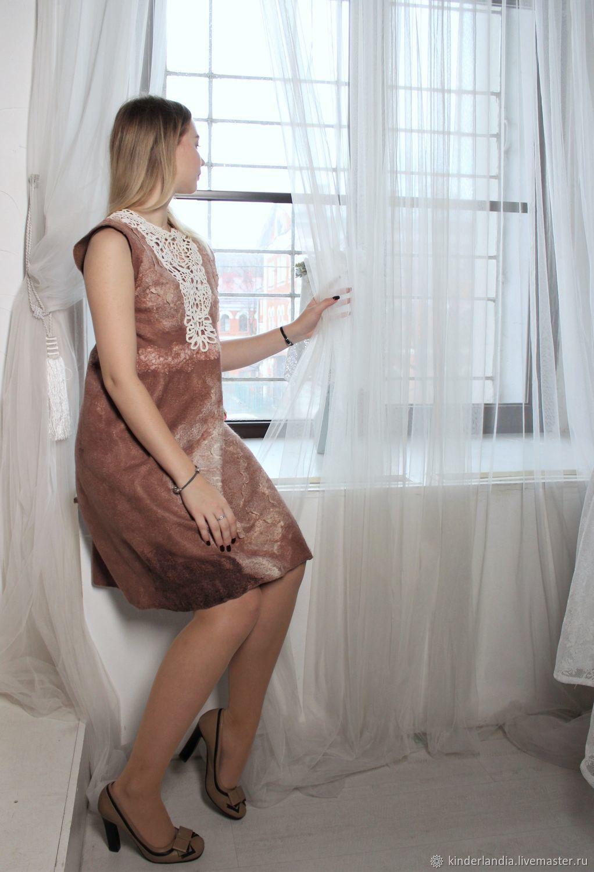 Dress felt Viennese coffee, Dresses, St. Petersburg,  Фото №1