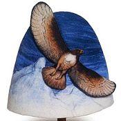 """Для дома и интерьера ручной работы. Ярмарка Мастеров - ручная работа Шапка для бани """"Орел"""". Handmade."""