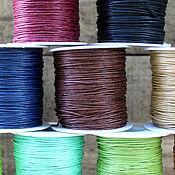 Материалы для творчества handmade. Livemaster - original item waxed cord. The thickness is 1 mm. ( Colors in stock). Handmade.