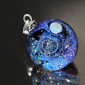 Украшения handmade. Livemaster - original item Pendant ball galaxy purple space. Silver Glass Universe Necklace. Handmade.