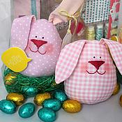 Подарки к праздникам ручной работы. Ярмарка Мастеров - ручная работа Пасхальные яйцезайцы. Handmade.