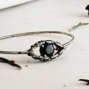 Украшения handmade. Livemaster - original item Silver bracelet cuff with eye Jewelry against the evil eye Spinel. Handmade.