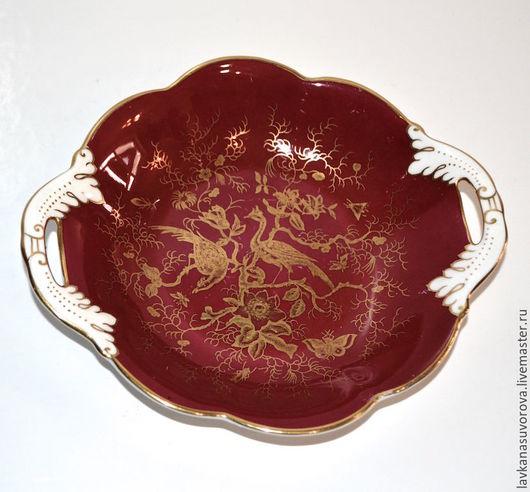 Винтажная посуда. Ярмарка Мастеров - ручная работа. Купить КОНФЕТНИЦА костяной фарфор Coalport Англия 40-е гг. Handmade.