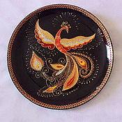 """Тарелки ручной работы. Ярмарка Мастеров - ручная работа """"Жар-Птица"""",интерьерная тарелка. Handmade."""
