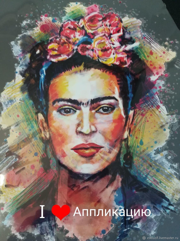 """Термоаппликация   """"ФРИДА"""" известная мексиканская художница, Термотрансферы, Москва,  Фото №1"""