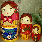 Русский стиль handmade. Livemaster - original item Matryoshka 3x-seat. Handmade.