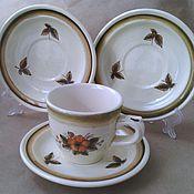 Винтаж handmade. Livemaster - original item konakovo. Tea/coffee steam and two saucers.. Handmade.