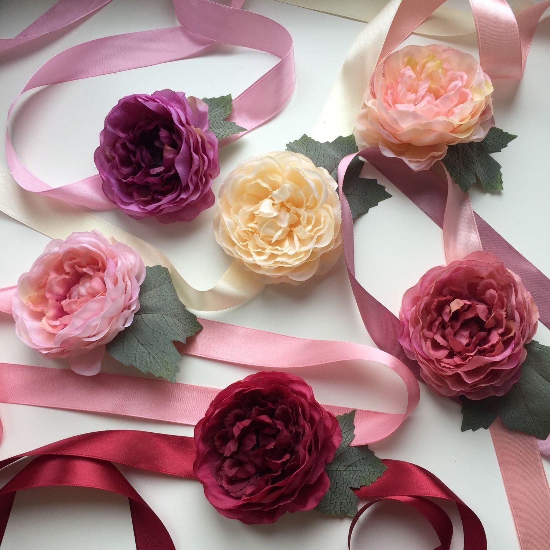Браслеты с цветами для невесты 7