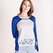 Одежда handmade. Livemaster - original item Sweatshirt with mountains. Handmade.