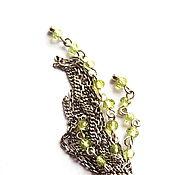 Украшения ручной работы. Ярмарка Мастеров - ручная работа Кулон кисть из серебра и хризолита на серебярной цепочке. Handmade.