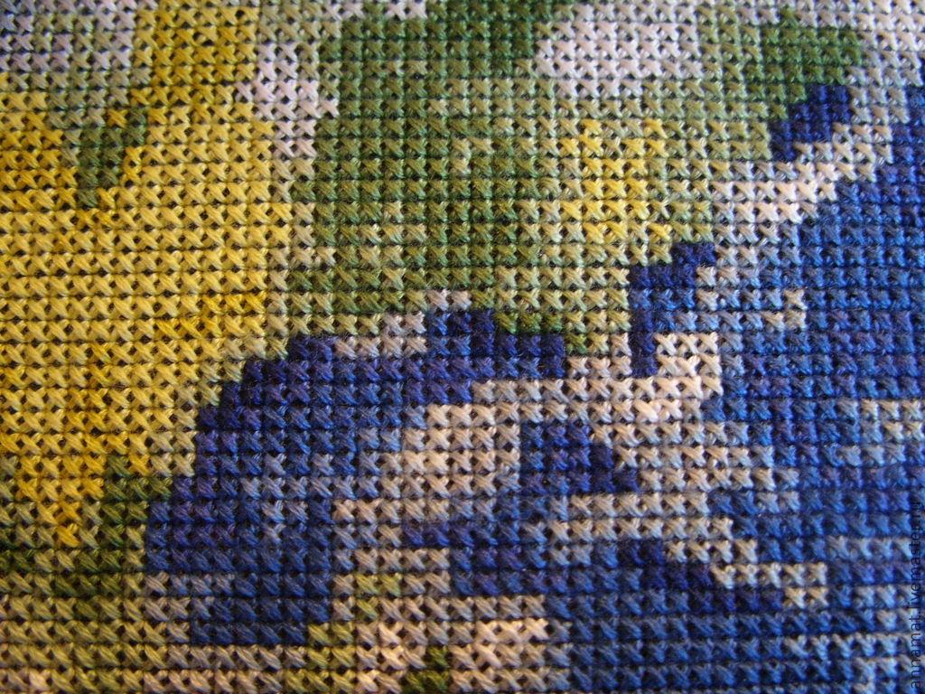 Схема вышивки планета земля