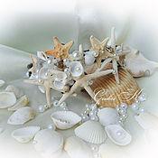 Свадебный салон ручной работы. Ярмарка Мастеров - ручная работа Ободок для волос в морском стиле. Handmade.
