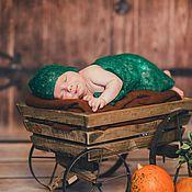 Работы для детей, ручной работы. Ярмарка Мастеров - ручная работа Плед для фотосессии новорожденных.. Handmade.