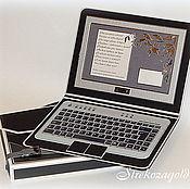 """Открытки ручной работы. Ярмарка Мастеров - ручная работа Открытка в коробочке для мужчины """" Ноутбук"""". Handmade."""