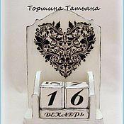 Канцелярские товары ручной работы. Ярмарка Мастеров - ручная работа Вечный календарь Love Is All Around. Handmade.