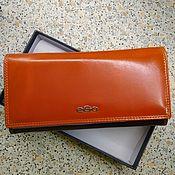 Кошельки ручной работы. Ярмарка Мастеров - ручная работа Кожаный кошелек оранжевый. Handmade.