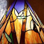 """Для дома и интерьера ручной работы. Ярмарка Мастеров - ручная работа Витражный светильник """"Бамбук"""" продано. Handmade."""