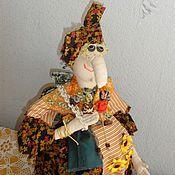 Куклы и игрушки ручной работы. Ярмарка Мастеров - ручная работа Солнечная. Баба Яга на чайник. Кукла на чайник.. Handmade.