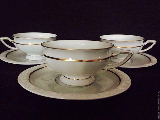 Винтажная посуда. Ярмарка Мастеров - ручная работа. Купить Чайные пары Розенталь. Handmade. Белый, антикварная посуда