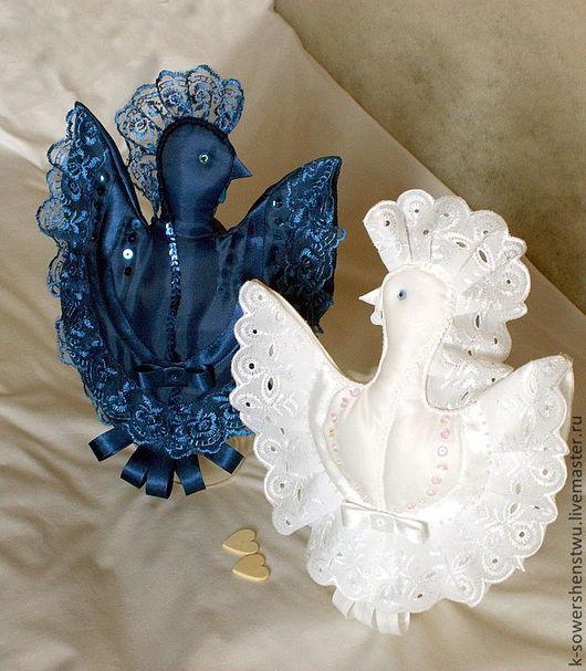 Подарки для влюбленных ручной работы. Ярмарка Мастеров - ручная работа. Купить Свадебная пара - птицы счастья. Handmade. Свадьба, бисер