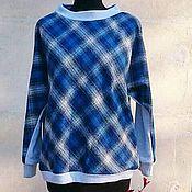 Одежда ручной работы. Ярмарка Мастеров - ручная работа Пуловер в клетку, хлопок 100%. Handmade.