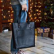 Сумки и аксессуары handmade. Livemaster - original item Leather bag black. Handmade.