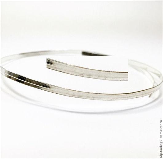 Для украшений ручной работы. Ярмарка Мастеров - ручная работа. Купить 30см Серебряная фигурная лента 3мм C000352. Handmade.