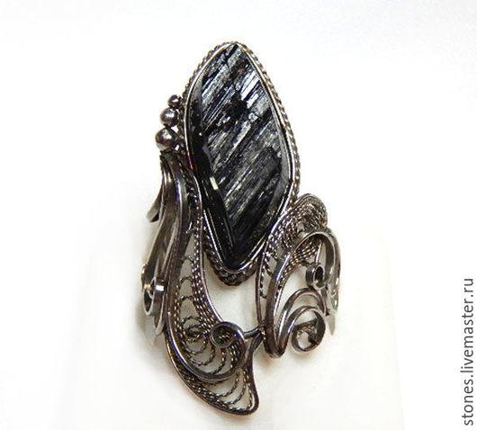 """Кольца ручной работы. Ярмарка Мастеров - ручная работа. Купить Кольцо """"ФАВОРИТ"""",турмалин, шерл.. Handmade. Черный, камень натуральный"""