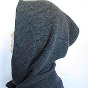 Аксессуары handmade. Livemaster - original item Mens Scarf Hood mitts color Marengo Italian Merino. Handmade.