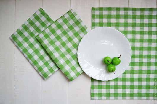 Кухня ручной работы. Ярмарка Мастеров - ручная работа. Купить Салфетка из плотного льна  для сервировки стола, ланчматы. Handmade.