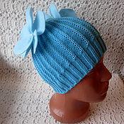 Работы для детей, ручной работы. Ярмарка Мастеров - ручная работа Мериносовая шапочка Цветочки.... Handmade.
