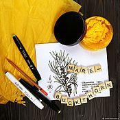 Косметика ручной работы handmade. Livemaster - original item Hand cream with sea buckthorn and lanolin. Handmade.