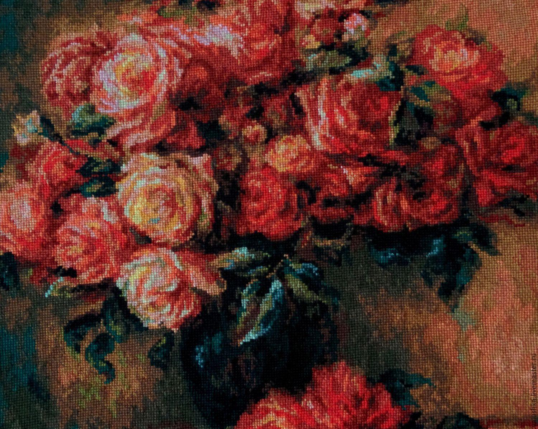 Букет роз ренуар вышивка крестом