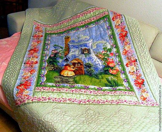 Текстиль, ковры ручной работы. Ярмарка Мастеров - ручная работа. Купить Лоскутное одеяло плед в подарок На чай. Handmade.