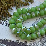 Материалы для творчества handmade. Livemaster - original item Roundels, 8 mm Greens. Handmade.