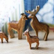 Вальдорфские куклы и звери ручной работы. Ярмарка Мастеров - ручная работа Семья благородных оленей. Handmade.