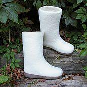 Обувь ручной работы. Ярмарка Мастеров - ручная работа Валенки женские на подошве. Handmade.