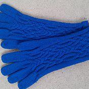 """Аксессуары ручной работы. Ярмарка Мастеров - ручная работа Вязаные перчатки """"Синяя осень"""". Handmade."""