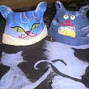 """Для дома и интерьера ручной работы. Ярмарка Мастеров - ручная работа Банная шапка """"Довольный Кот"""". Handmade."""