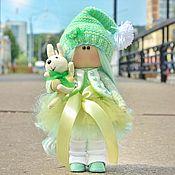 Куклы Тильда ручной работы. Ярмарка Мастеров - ручная работа Куклы Тильда: Мятный гномик. Handmade.