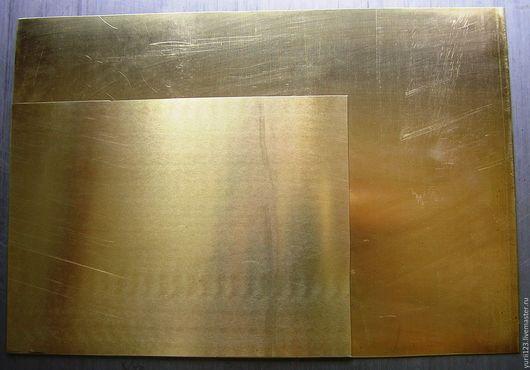 Другие виды рукоделия ручной работы. Ярмарка Мастеров - ручная работа. Купить Латунь лист толщина  0,9 мм размер 200 х145 мм. Handmade.